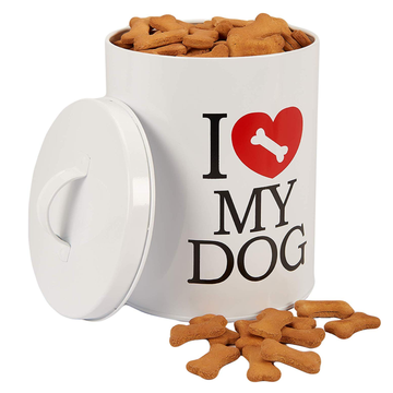 Large Pet Food Metal Canister