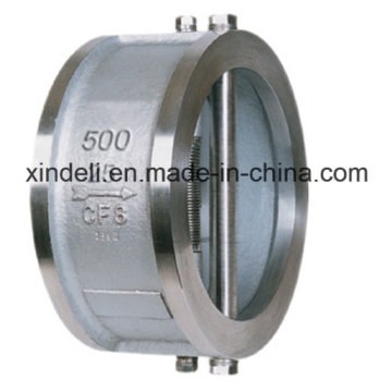 China fabricante Válvula de retenção Wafer Double-Disc Swing