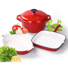 cast iron cookware with enamel in sarchi for household wholesale