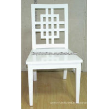 Cross full white wooden wedding Chair XP176
