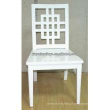 Cadeira de casamento de madeira branca cheia XP176