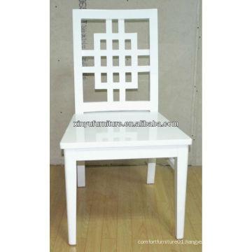 Cross full white wooden wedding Chair XP176