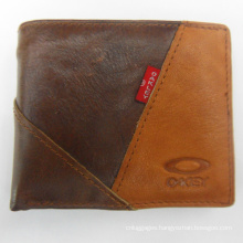 Cowboy wallet brown patchwork purse for men