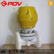 válvula de controle pneumática do gás do pvdf