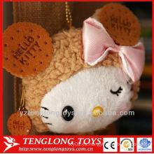 Japón de la exportación hola gatito con la moneda del arco bolso llavero de la felpa