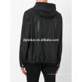 Poliéster esporte preto hoodies metade zip up moletom com capuz para homens