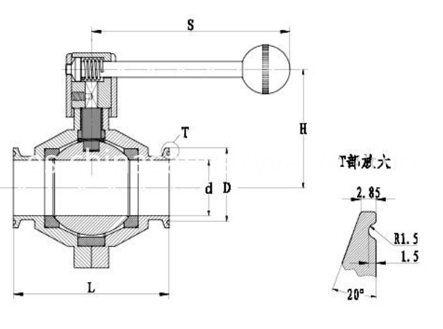 sanitary butterfly-type ball valves2