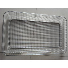 Customized 5X5 Mesh Hastelloy FeCrAl Wire Mesh Screen Basket With Frames