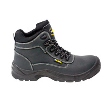 Nubuck Leather & Oxford Fabric Safety Shoes with Mesh Lining (HQ03029)