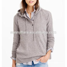 Hot Sale Women Pure Cashmere Hoodie Sweater