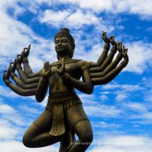 alta qualidade senhor vishnu com estátua de lakshmi deusa