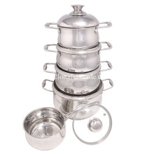 Набор посуды из нержавеющей стали, набор для кастрюль, суповая кастрюля, запеканка, кухонная утварь
