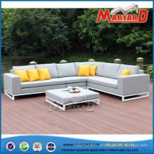 Sofá de sala de estar de tecido moderno ao ar livre