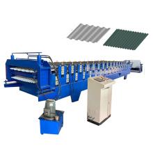 space-saving double layer decking roofing sheet making machine