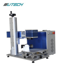 Máquina de marcação a laser de fibra dividida para prata dourada