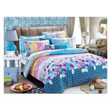 Floral luxury 40s 128 * 68 pigment printing 100% coton épais housses de couette en duvet