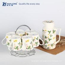 Erdbeere-Anstrich-heißer Verkaufs-chinesischer Tee-Topf-Satz, feiner keramischer Zeichnungs-Tee-Satz