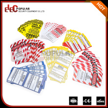 Elecpopular Best Selling Products Colorful OEM Safety Warning Signs PVC Lockout Industrial Lable Tags
