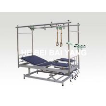 (A-141) Наклонная ортопедическая тяговая кровать со съемными ножками