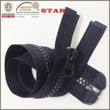 Zipper plástico negro para los bolsos de las mujeres (# 5)