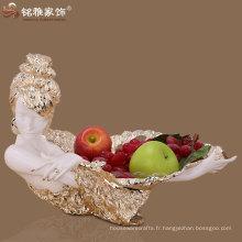 figurine de beauté résine plateau de fruits décoratifs maison à la main