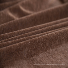 Plain Woven Chenille Sofa Fabric by Chocolate Color