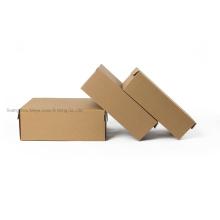 Custom Printing Foldable Natural Kraft Corrugated Shipping Shoe Packaging Box