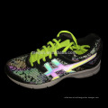 Snake reflective fabric for shoe upper