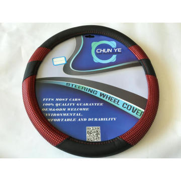 Sequin Durable 3-spoke PU Steering Wheel Cover