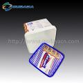 Galleta personalizada que empaqueta el envase de plástico cuadrado