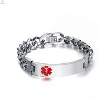 Online Chunky Silver Stainless Steel Jewellery Diabetic Bracelet