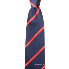 Corbatas de seda para hombre del nudo perfecto del cuello perfecto de las rayas clásicas