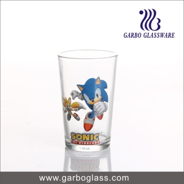 8oz V Shape Decal Glass Cup