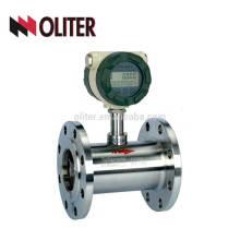 4-20ma salida flujo de agua de pico digital medidor de flujo de turbina de flujo de agua