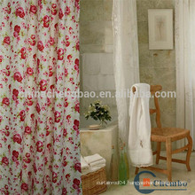 Custom polyester bathroom shower curtain from china supplier