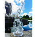 12inch Height in Line Percolator Castle Glass Smoking Water Pipe