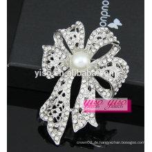 Neueste hochwertige Kristallblume Bowknot Brosche