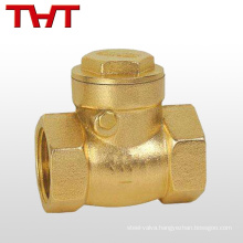one way brass small check valve 3/4 brass for air compressor