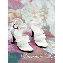 1/3Girl Shoes White/Black High-heeled Sandals for SD BJD