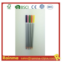 Silver Barrel Wooden Pencil with Color Dipped