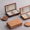 Boîte à bijoux en bois Boucles d'oreilles Anneaux Bracelet Bracelet Velours