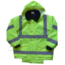 EN ISO 20471: 2013 y ANSI / ISEA 107-2010 chaqueta de bombardero reflectante impermeable clase 3