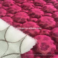 laço da folha estofando tecido, folha de tecido bordado acolchoado para o vestuário