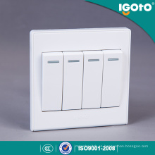 Igoto UK Standard 4 Gang 1way interruptor de pared de uso para el hogar