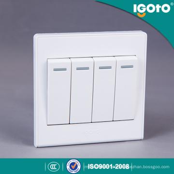 Igoto UK Standard 4 Gang 1way Wandschalter Verwenden Sie für Zuhause