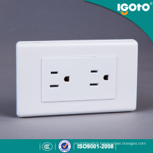 Twin Receptacle Wall Socket Outlet for Latin American Market