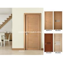 Изготовленная на заказ белая дубовая деревянная дверь