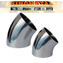 Bright Annealed 304/316 Food Grade 45 Degree 3A Weld Elbow.