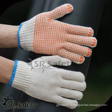 Безопасность SRSafety Белая хлопчатобумажная рабочая перчатка / Пунктирная хлопчатобумажная перчатка
