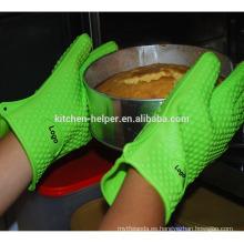 Venta al por mayor Cocina de alta calidad Cocina guantes de cocina resistentes al calor de barbacoa de silicona del horno / guante de barbacoa de horno de la parrilla de silicona / Mitt del horno